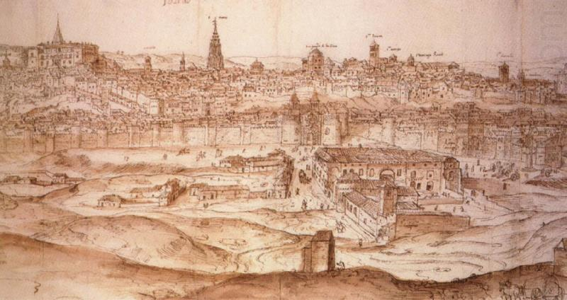 Anton van den Wyngaerde View of Toledo china oil painting image