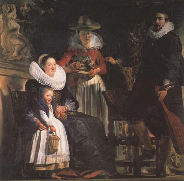 Jacob Jordaens The Artst and his Family (mk45) china oil painting image