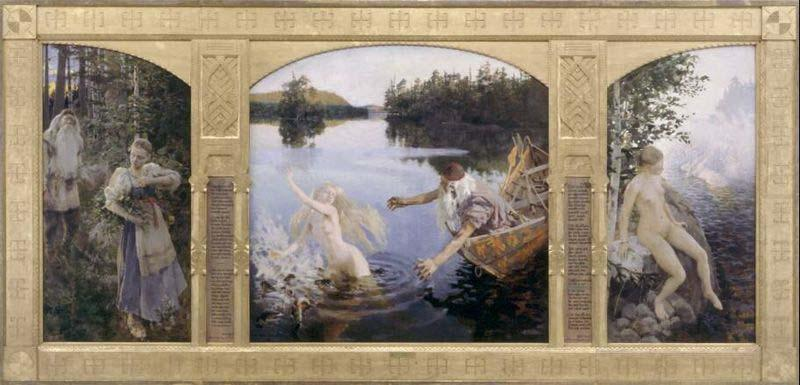 Akseli Gallen-Kallela The Aino triptych china oil painting image