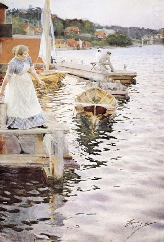 Anders Zorn vagskvalp china oil painting image