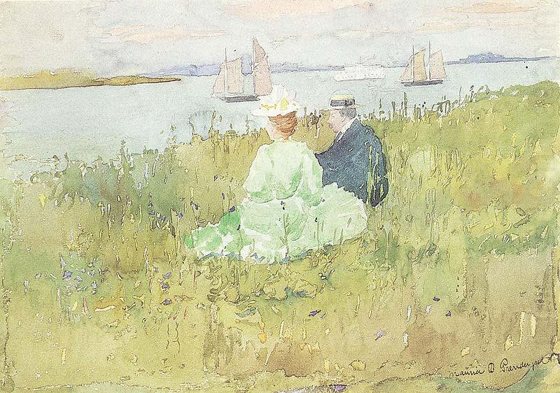 Maurice Prendergast Viewing the Ships china oil painting image