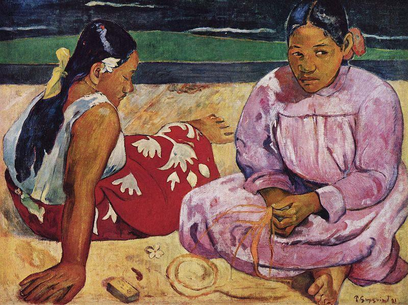 Paul Gauguin Tahitian Women on the Beach china oil painting image