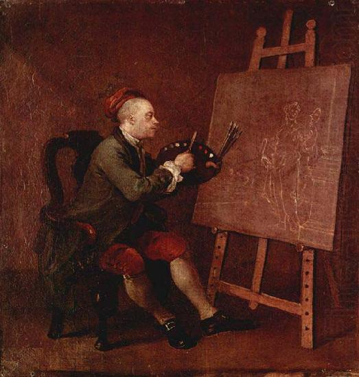 William Hogarth Hogarth Painting the Comic Muse china oil painting image