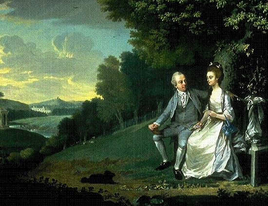 James Holland Portrait of Sir Francis and Lady Dashwood at West Wycombe Park china oil painting image