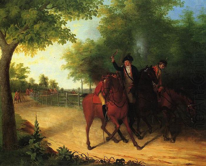 James Peale The Ambush of Captain Allan McIane china oil painting image