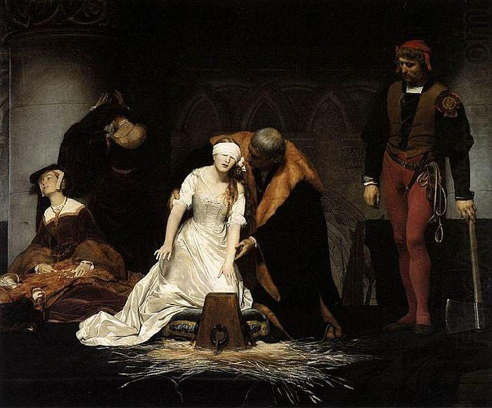 Paul Delaroche The Execution of Lady Jane Grey china oil painting image