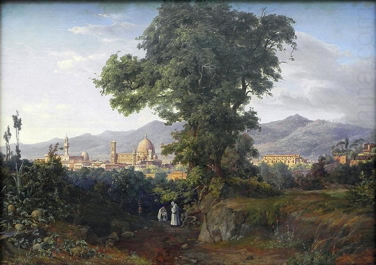 August Ahlborn View of Florenz china oil painting image