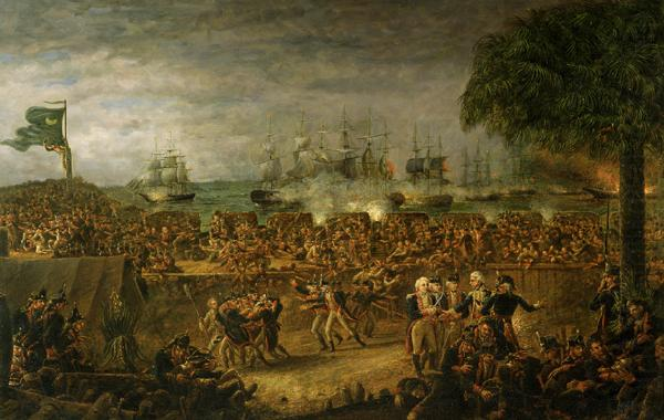 John Blake White The Battle of Fort Moultrie china oil painting image