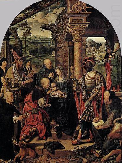 Joos van cleve The Adoration of the Magi china oil painting image