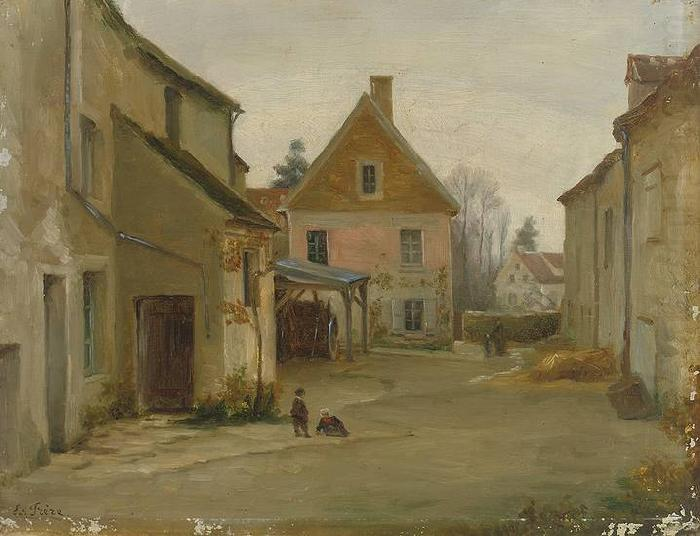 Pierre Edouard Frere Village street china oil painting image
