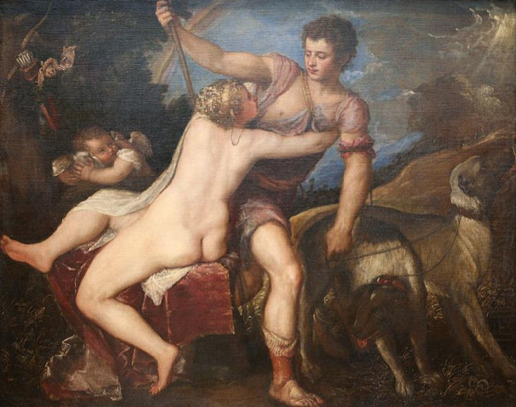 Titian Venus and Adonis china oil painting image