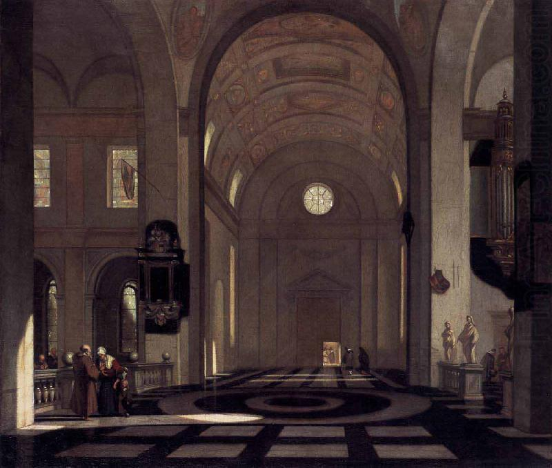 Emmanuel de Witte Interior of a Baroque Church china oil painting image