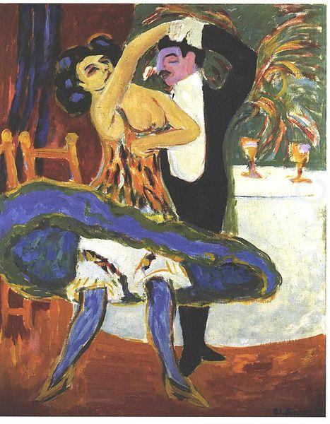 Ernst Ludwig Kirchner VarietE - English dance couple china oil painting image