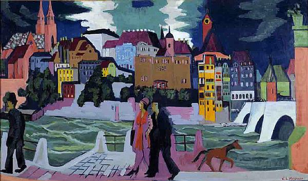 Ernst Ludwig Kirchner View of Basel and the Rhine china oil painting image