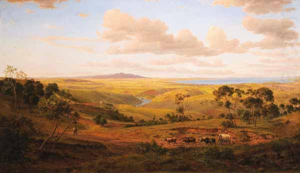 Eugene Guerard View of Geelong china oil painting image