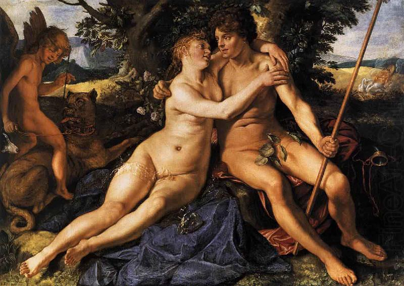 Hendrick Goltzius Venus and Adonis china oil painting image