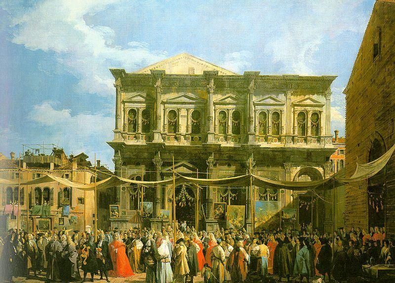 Canaletto Venice: The Feast Day of St. Roch china oil painting image