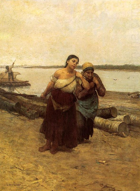 Deak-Ebner, Lajos Boat Warpers china oil painting image