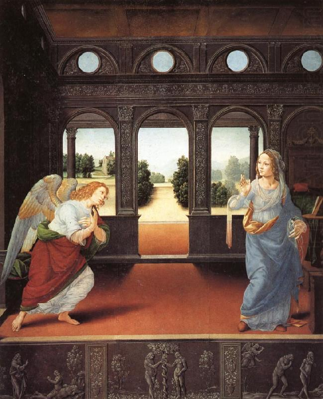 LORENZO DI CREDI The Annunciation china oil painting image