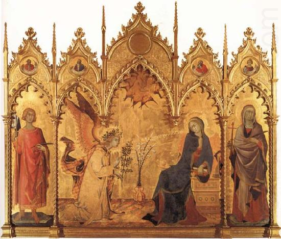 Simone Martini The Annunciation with SS.Ansanus and Margaret and Four Prophets china oil painting image