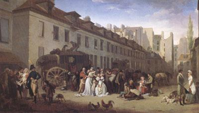 Louis Leopold  Boilly THe Arrival of a Coach (mk05) china oil painting image