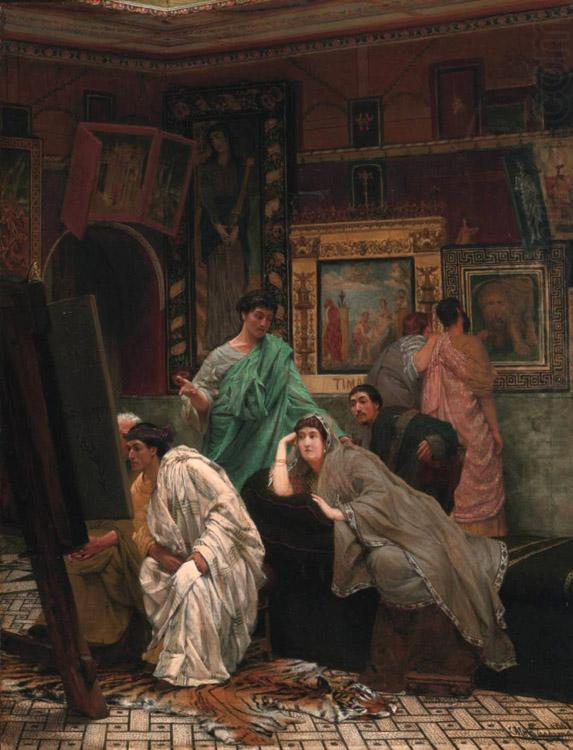 Alma-Tadema, Sir Lawrence The Collector of Pictures in the Time of Augustus (mk23) china oil painting image
