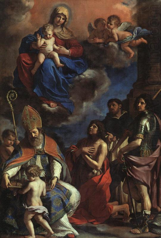 Virgin and Child with the Patron Saints of Modena,  Giovanni Francesco  Guercino