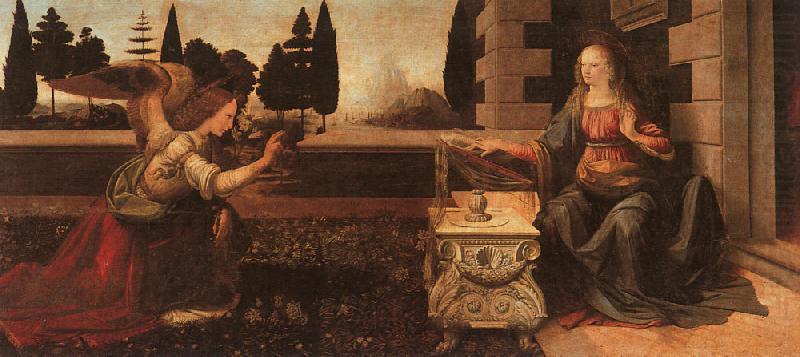 The Annunciation-o Leonardo Da Vinci Wholesale Oil ...