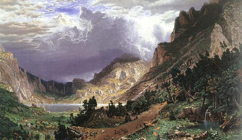 Tischler In D Sseldorf in the rocky mountains mt rosalie albert bierstadt wholesale painting china picture