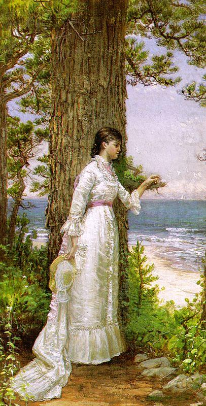 Alfred Thompson Bricher Under The Seaside Tree