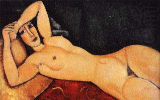 Reclining Nude with Arm Across Her Forehead, Amedeo Modigliani