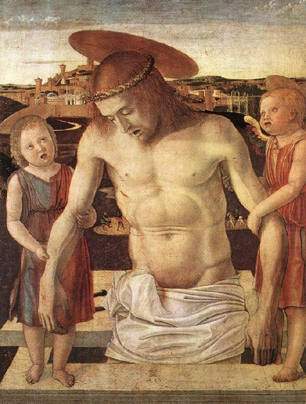 the dead christ supported by two Dead christ supported by two angels is a tempera on panel painting by  giovanni bellini, now in the gemäldegalerie, berlin it is dated to 1465-1470, as  shown.