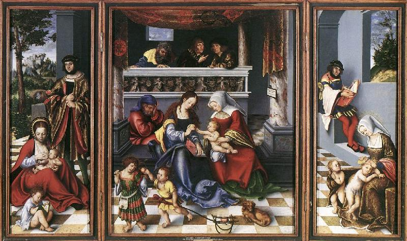 Altarpiece of the Holy Family dsf, CRANACH, Lucas the Elder