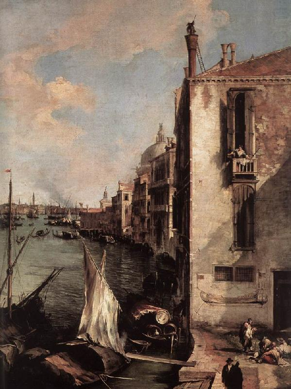 Grand Canal, Looking East from the Campo San Vio (detail) fd, Canaletto