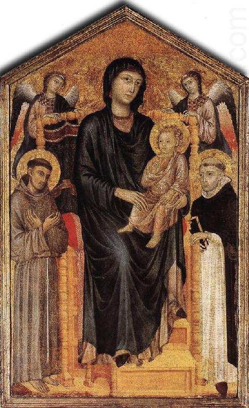 cimabue madonna enthroned with angels. Madonna Enthroned with the