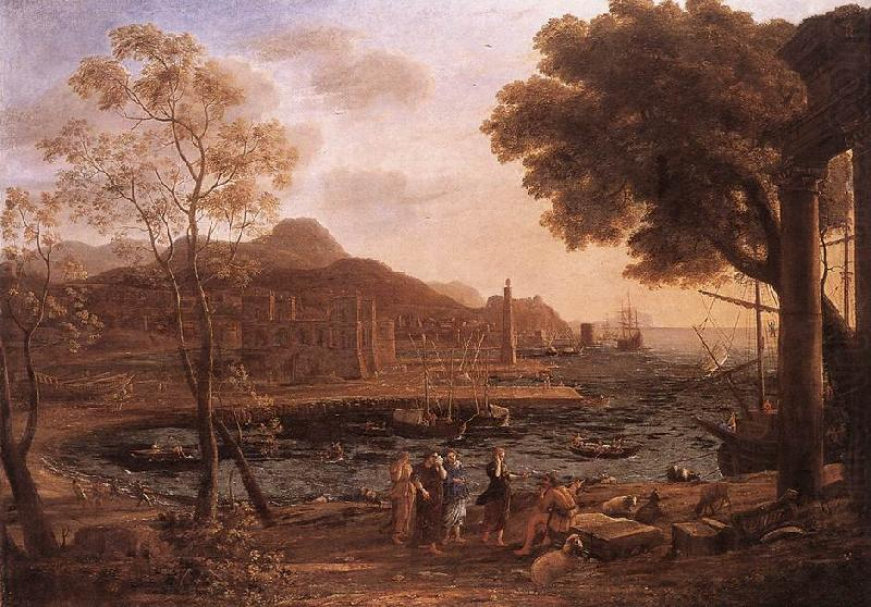 Harbour Scene with Grieving Heliades dfg, Claude Lorrain