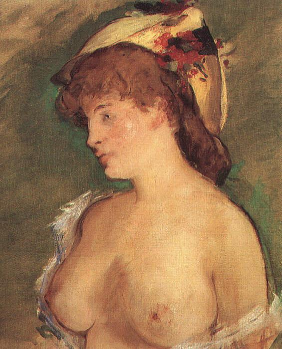 Edouard Manet Blond Woman with Bare Breasts