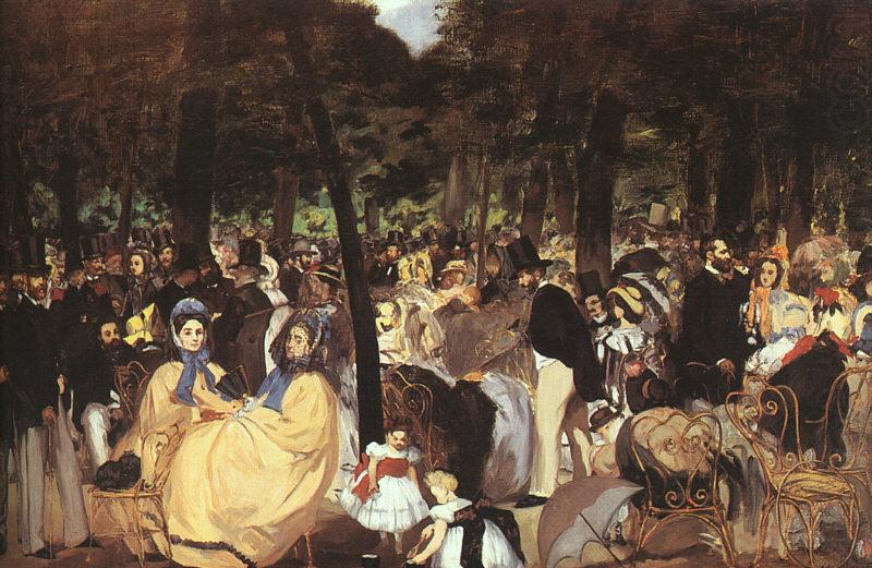 Edouard Manet Concert in the Tuileries