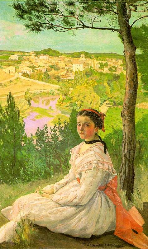 View of the Village, Frederic Bazille