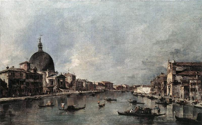 The Grand Canal with San Simeone Piccolo and Santa Lucia sdg, GUARDI, Francesco