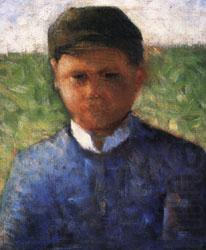 The Little Peasant in Blue, Georges Seurat
