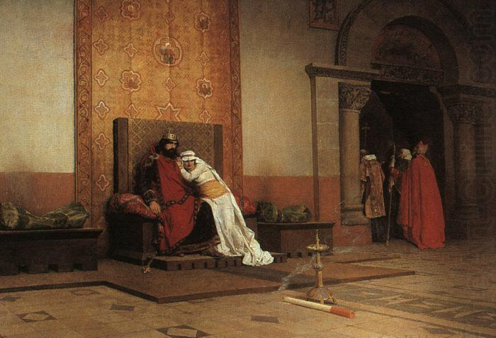 The Excommunication of Robert the Pious, Jean-Paul Laurens