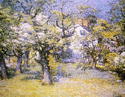 Through The Orchard John J Enneking Wholesale Oil Painting