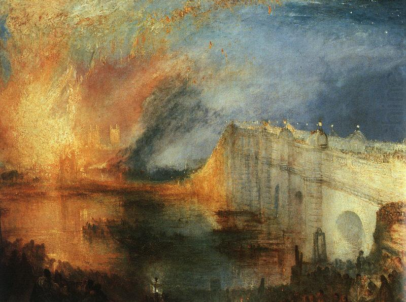 The Burning of the Houses of Parliament, Joseph Mallord William Turner
