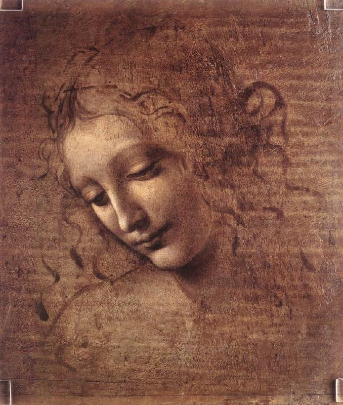 The Virgin and Child with St Anne (detail)  f, LEONARDO da Vinci