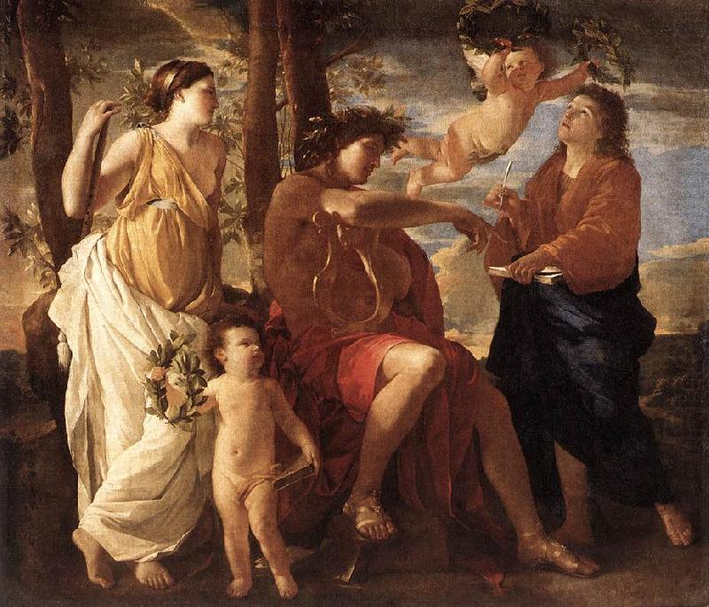 Nicolas Poussin Inspiration of the Poet
