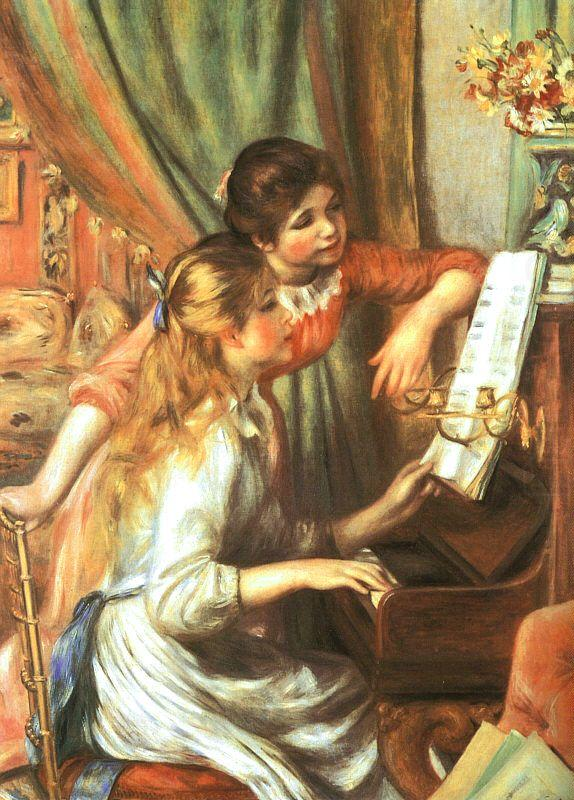 Pierre Renoir Two Girls at the Piano