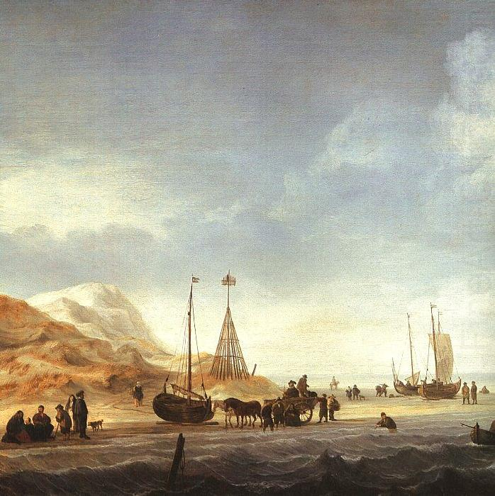 A Beach with Shipping Offshore, Simon de Vlieger