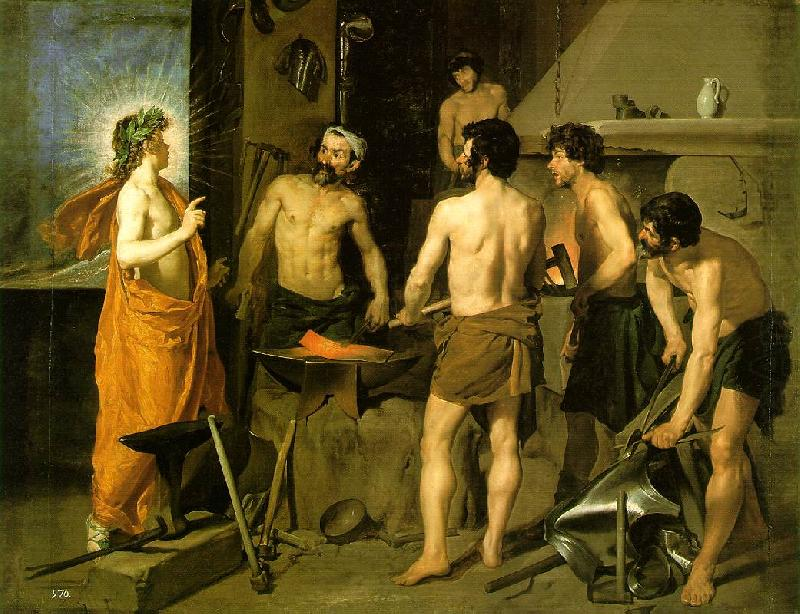The Forge of Vulcan we, VELAZQUEZ, Diego Rodriguez de Silva y
