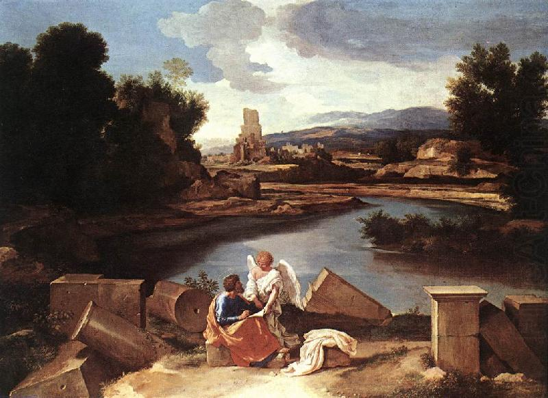 Landscape with St Matthew and the Angel sg, POUSSIN, Nicolas